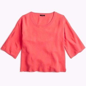 J. CREW Coral Cotton Short Sleeve Sweater Blouse